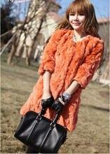 Free Shipping new candy color 2013 Luxury Women Real Fur Coat Rex Rabbit Fur Winter plus size Medium-long Fur Coat M/L/XL D2083