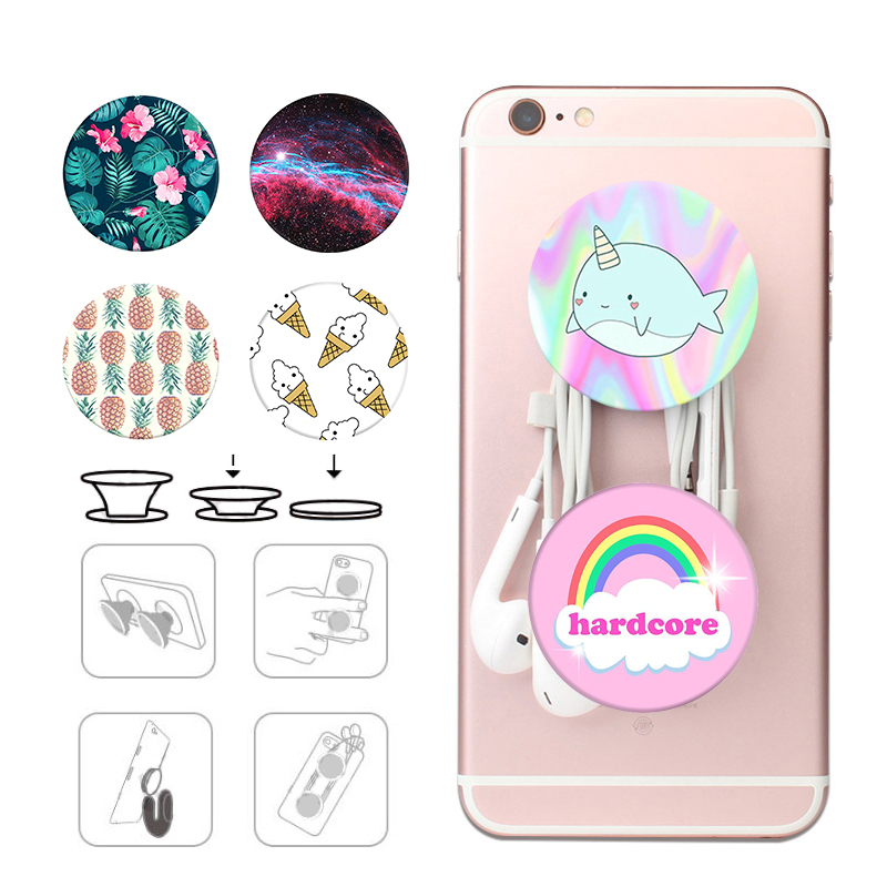 Popsoket Marble Colored Drawing Pops Pocket Socket Lazy Finger Ring Desk Stand Holder Popsocet For Mobile Phones Pipsocket
