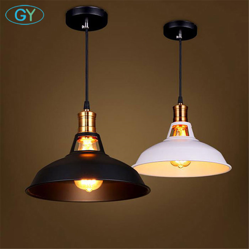 Vintage hollow out Pendant lights Retro Industrial Metal pendant Lamp Cafe Restaurant clothes shop store Loft Lid hanging Lights