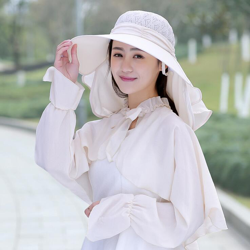 7bdd8ffb34f 2018 new Sun Hats for women summer sun visor hat with big heads wide brim  beach hat omnibearing UV protection female caps