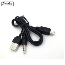 50cm Mini USB to 3.5mm AUX Car Lead Jack USB Audio Cable Cord for Mobile Phone Samsung Galaxy S6 S5 Data Cable