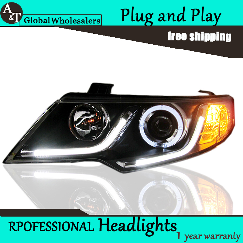 Car Styling for Kia Forte Headlights 2012 Cerato LED Headlight DRL Lens Double Beam H7 HID Xenon bi xenon lens car styling for subaru outback led headlight europe headlights drl lens double beam h7 hid xenon bi xenon lens