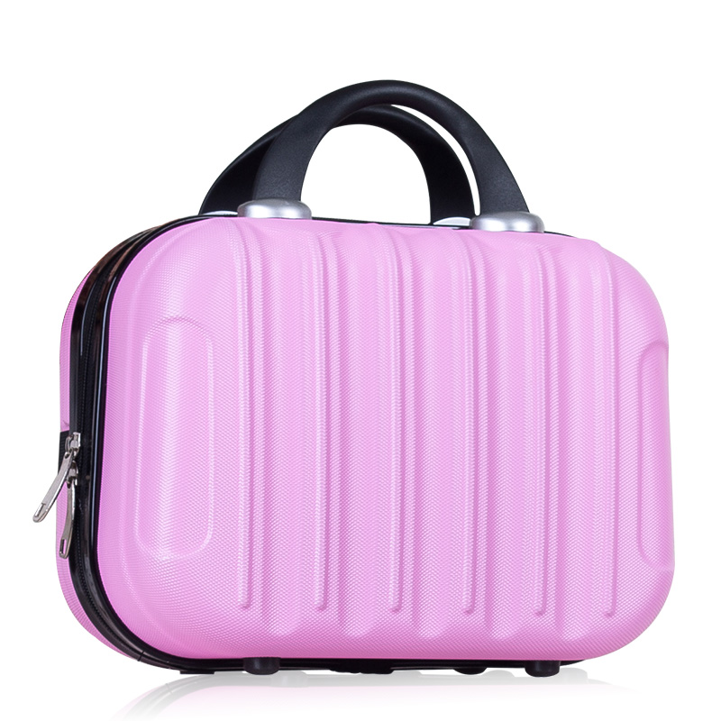 Women Fashion Professional Makeup Organizer Toiletry Bag Travel Cosmetic Bag Suitcase Toolbox Brush Necessities Storage Box black professional makeup cosmetic storage train case box trays aluminum organizer artist hiker draws