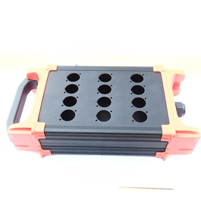 Высокое качество 12 сигнального пути этап стыке коробки стадии змея кабель коробка многоканальный аудио кабель распределительная коробка