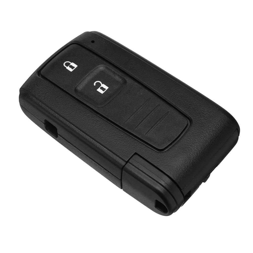 2 Bateria Interruptor de BOTÃO do Controle Remoto Chave Shell Caso Fob Para Toyota Corolla Verso Prius