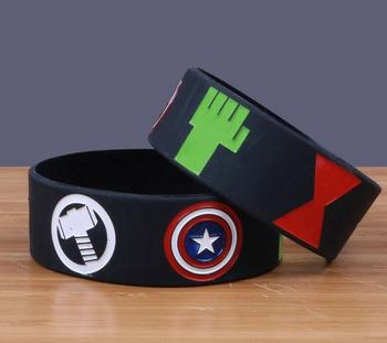 New 100pcs  Popular the Avengers Wristband Silicone Promotion Gift Filled In Color Bracelet Free Shipping  T-300