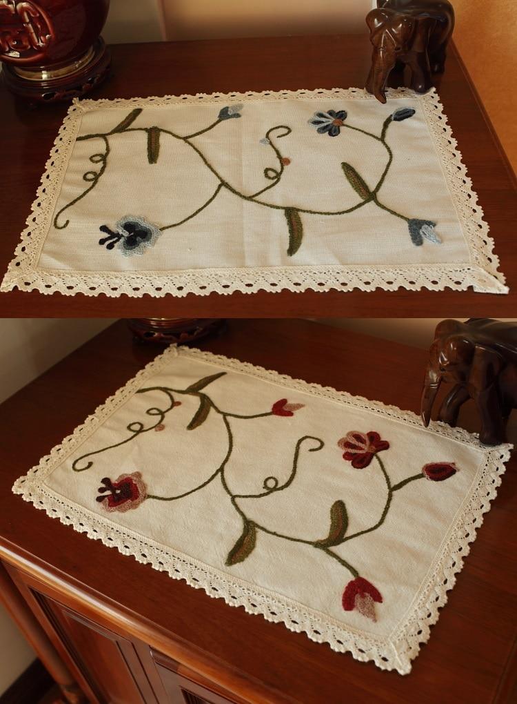 ツ)_/¯Rectángulo algodón Telas del cordón del ganchillo tapetito ...