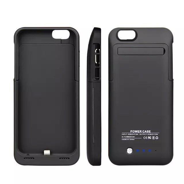 imágenes para 3500 Mah Nueva Batería Externa Portable Caso Para iPhone6 6 S Caso caso del cargador de batería de repuesto para iphone 6 6 s banco de potencia caso