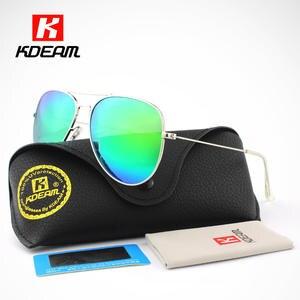 5d17f166157 Air Force Pilot Sunglasses Men Polarized 62  Lens Large Sun Glasses  Polaroid UVA UVB Sunglass de sol With Case