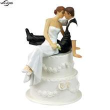 Resin Wedding Cake Topper Wedding Decoration Cake Boda Favor Decoration Look Of Love Bride Groom Couple Figurine Accessories