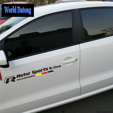 World Datong car styling sport sticker For VOLKSWAGEN Jetta Front door Decals Auto Stickers