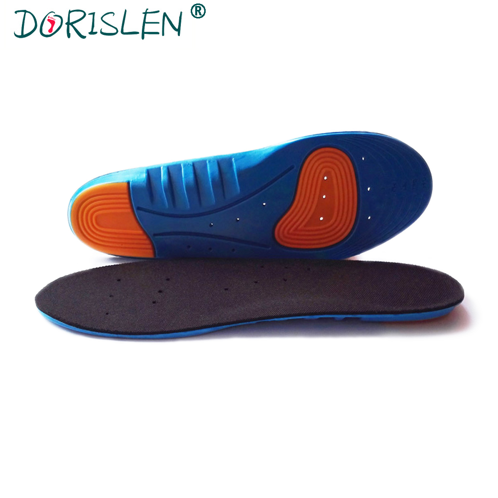 DORISLEN Elastic PU Sports Insoles Shock Absorption Breathable For Men And Women 100pairs