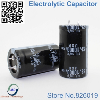 15pcs/lot 63V 10000UF Radial DIP Aluminum Electrolytic Capacitors size 30*50 10000UF 63V Tolerance 20%
