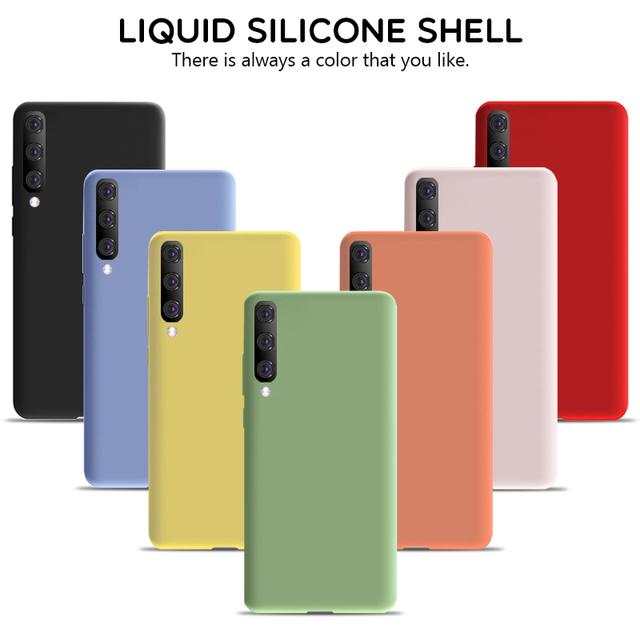 Soft Liquid Silicone Case For Samsung Galaxy A10 A20 A30 A40 A50 A70 M10 M20 M30 J4 J6 J8 A6 2018 Note8 9 S8 S9 S10 Plus S10e