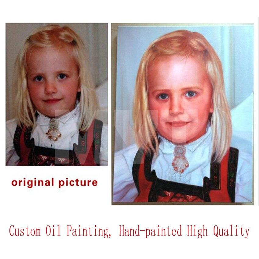 100% Pintado À Mão Pintura A Óleo do Retrato Personalizado Ou Copiar a Sua Oferta Não Pinturas Pintado À Mão Pinturas a Óleo Impressa