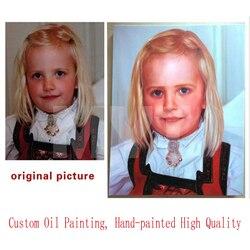 100% Pittura A Olio del Ritratto O La Copia Dipinta A Mano Dipinta A Mano Su Ordinazione Il Vostro Offerta Dipinti Non Stampato Dipinti Ad Olio