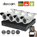 1080p AHD Home Security System 4CH Channel DVR Full HD CCTV Kit Night Vision Bullet Video Surveillance Camera 3.6mm 24 IR Leds