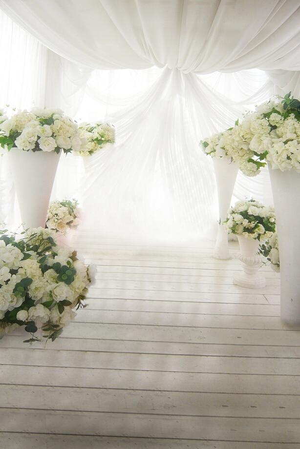 200 cm 150 cm 6 5ft 5ft romantis tirai bunga putih