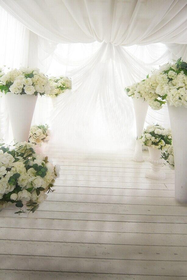 200cm 150cm 6 5ft 5ft Romantic White Flower Curtain Roof