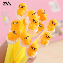 4pcs/lot  Egg black water-based pen cute to stay Meng Meng 3D Egg Jun 0.38mm Gel pen pen student learning supplies free delivery цена и фото