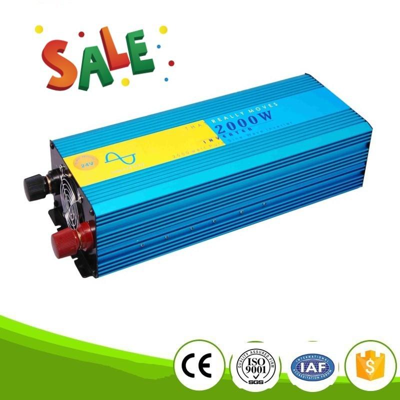 Onduleur 24 вольт 2000 Вт Инвертор Чистая синусоида Инвертор мощность Инвертор Вт 2000 В в В 220 в электронный напряжение конвертер для дома