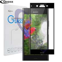 ФОТО for sony xperia xz1 protection tempered glass 9h electroplated 4d front full film case for xperia xz1 compact screen protector