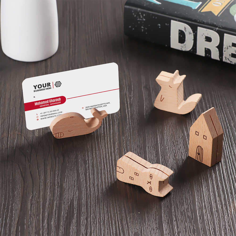 Cute Fox/Cat/House/Whale Wood Photo Holder Memo Clips Desktop Calendar Message Clamps Stand Display Board Photography Props