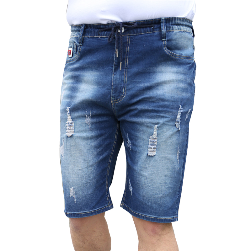 Popular Mens Jeans Shorts Men Jeans Elastic Waist-Buy Cheap Mens ...