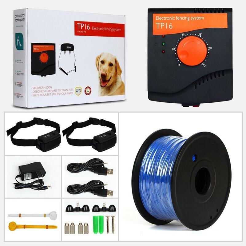 5000平方メートルTP16ペット犬電気フェンス防水充電式電気ショック調整可能なトレーニング犬の首輪用1/2犬  グループ上の ホーム&ガーデン からの トレーニング襟 の中 1