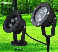 6W In Ground Light LED Outdoor Ground Garden Path Floor plug in ground with Stick Yard Lamp Spot Landscape Light Waterproof IP67