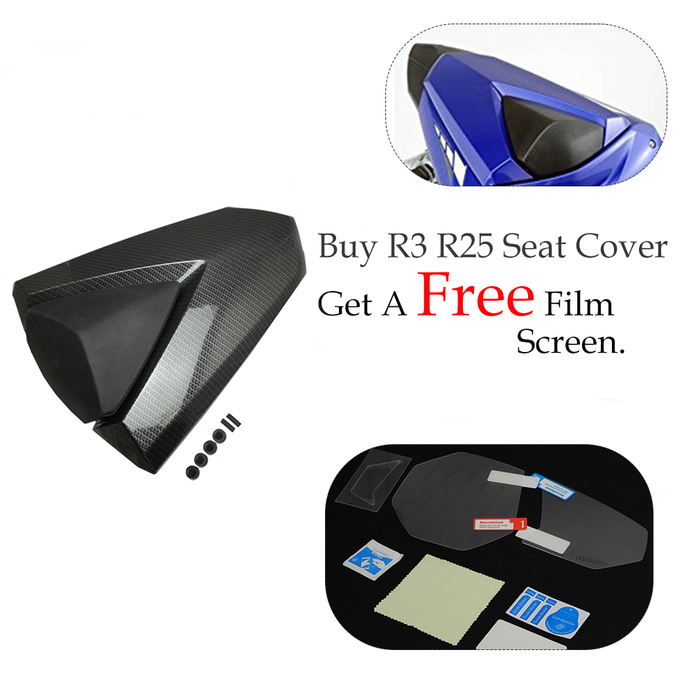KEMiMOTO For YAMAHA YZF R25 R3 Motorcycle Rear Seat Cover Solo Fairing Cowl YZF R3 2013