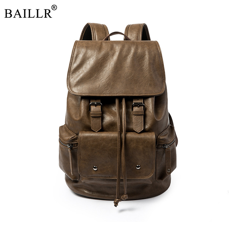 Promotions Brand Preppy Style PU Leather School Backpack Bag For College Simple Design Men Casual Daypacks New Fashion Wholesale jooz preppy style women leather backpack youth school backpack bag for college vintage bookbags men male casual daypacks