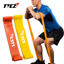 TTCZ Elastic Fitness Yoga Loop Band Natural Latex Tension Resistance bands Pull Rope Body Ankle Leg Senior Exercise Training