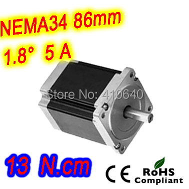 5 pcs per lot Nema 34 Stepper motor 34HS59-5004S L150 mm  with 1.8 deg stepper angle current  5 A  torque 13N.cm and 4 wires nema 34 stepper motor 34hs59 5004s l150 mm with 1 8 deg stepper angle current 5 a torque 13n cm and 4 wires