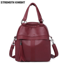цены Women Leather Backpack High Quality Bolsas Mochila Feminina Girl Schoolbag Shoulder Bag Luxury Women Backpacks Sac