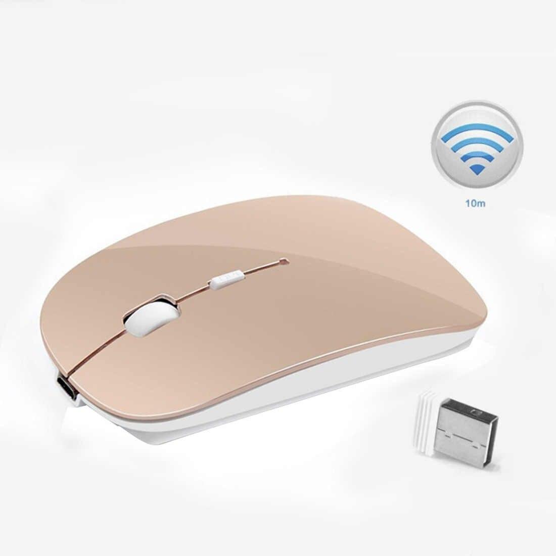 Ratón ergonómico 2,4 Ghz ratón óptico USB para ordenador portátil PC ratón silencioso PC 2400 ppp