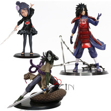 Cheapest Akatsuki Konan Bust Uchiha Madara figure Orochimaru Action figurine figura model toy