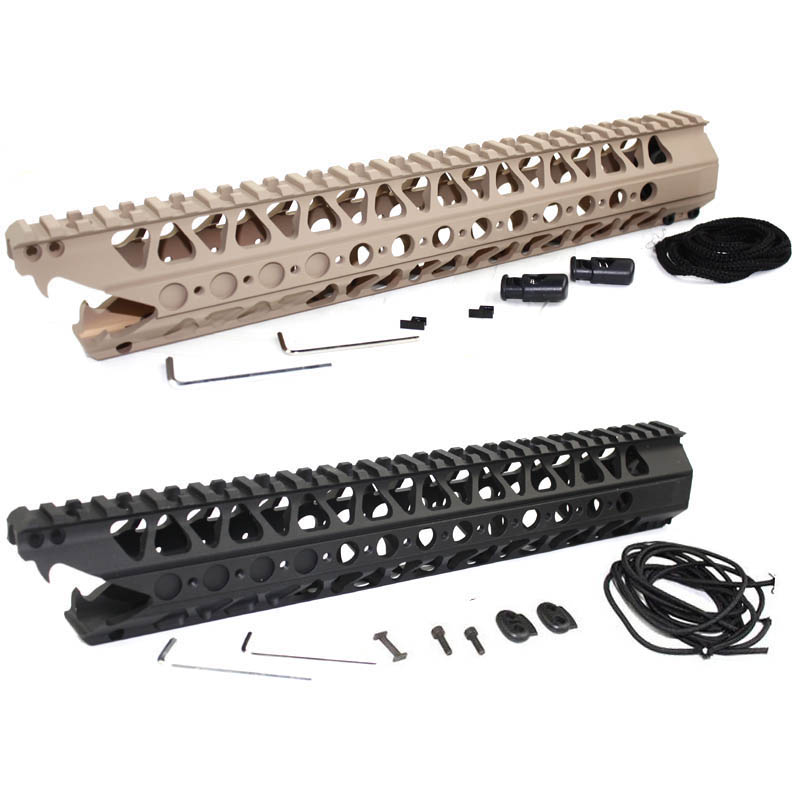 Hunting Picatinny Rail 13.5 inch &16.2 inch LVOA-C Viper handguard Rail system for AEG airsoft M4/M16/AR-15 BK/DE hunting picatinny rail 4 25 inch handguard rail cqb tactical rail systems for aeg m4 m16