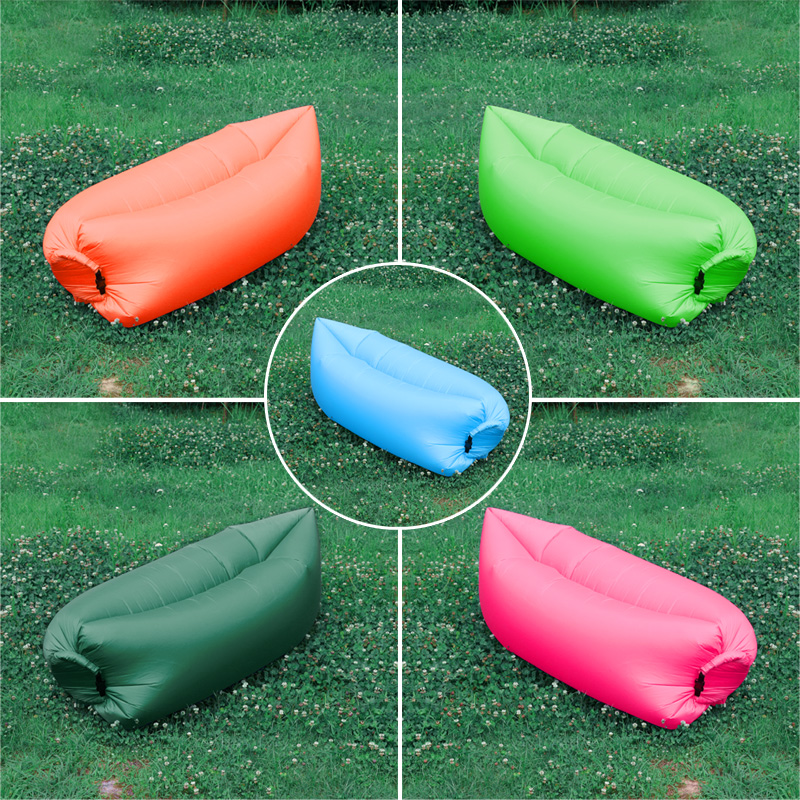 Portable Lounger Outdoor Foldable Laybag Fast Air Inflation Sleeping Sofa Bed For Picnic Beach Mountaineering Sports Outdoor lazy sofa wholesale air ounger bag camping for beach laybag saco de dormir acampamento inflatable kaisr laybag z126