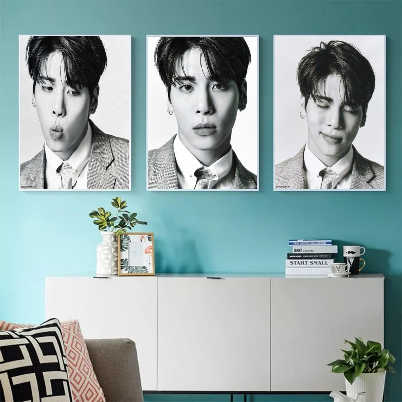 White high-definition SHINee house poster and bedroom wall poster singer <font><b>Kim</b></font> jong hyun image