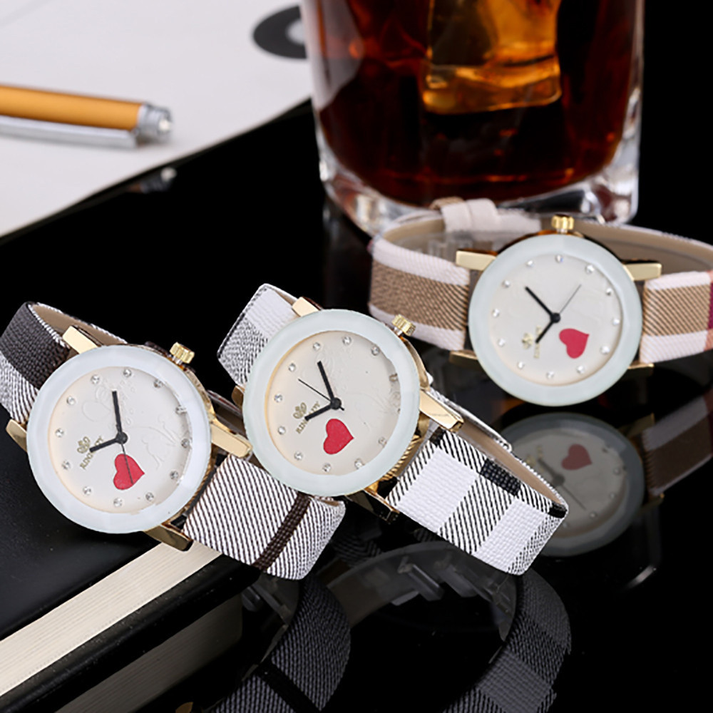 Ladies Belt Watch 2018 Simple Irregular Striped Diamond Scale Heart Shaped Couple Stamp Dial Fashion WristWatch Orologio Donna 5