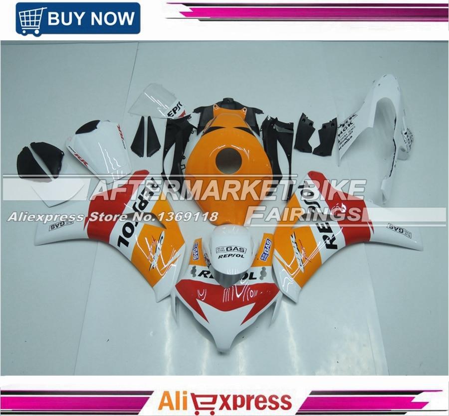 100% Fitment ABS Motorcycle Injection Fairing Kit For Honda CBR1000RR 2008-2011 2009 2010 Year Full Bodywork White Repsol