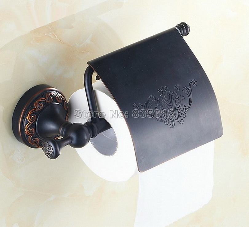 Black Oil Rubbed Bronze Bathroom Wall Mounted Toilet Paper Holder