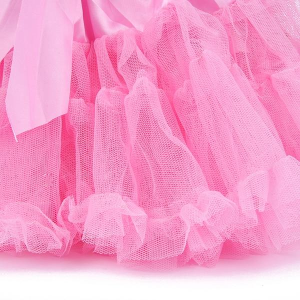 Multi-List-Pettiskirt-Bow-knot-Girls-Dance-Tutu-Skirt-Solid-Color-KB0061-3