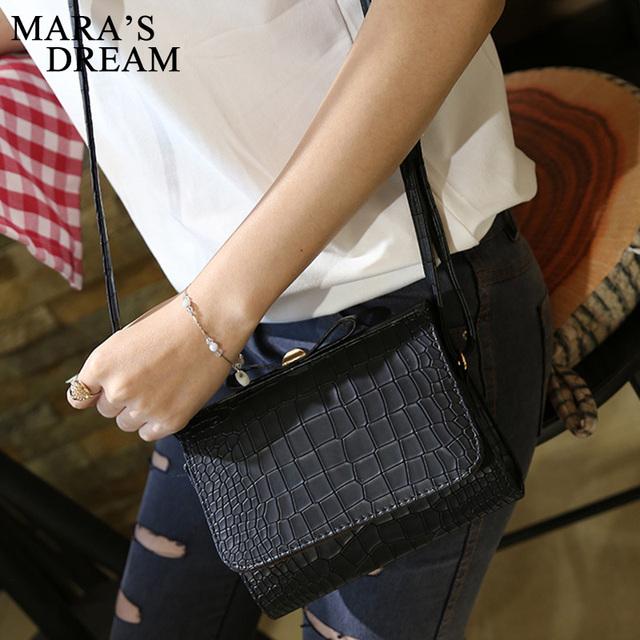 Mara's Dream 2017 Women Messenger Bags Mini alligator Handbag bow shoulder bags Flap Hand Crossbody Bag For Lady Sac Femme Bolsa