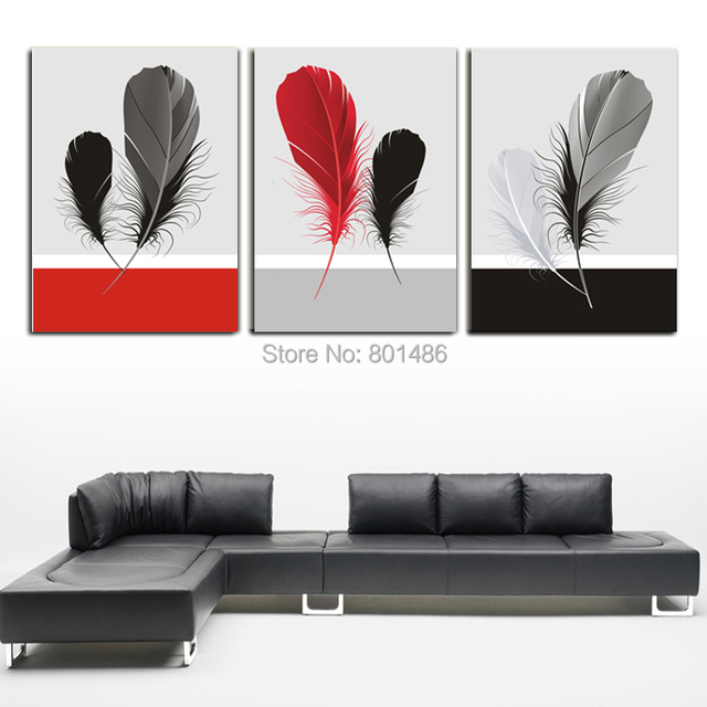 Direct factory price ! Large size 3 piece black white and red ...
