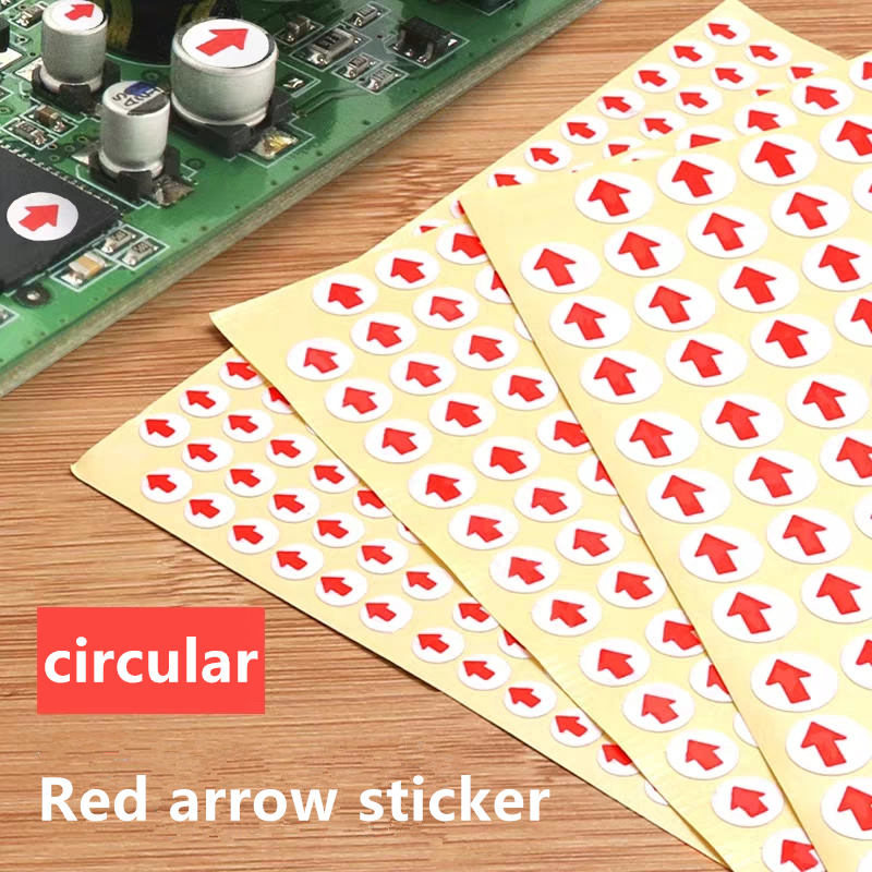 Free Shipping Red Arrow Label Non-drying Glue 15 Sheets Per Package Label Sticker Indicator Sticker Circular
