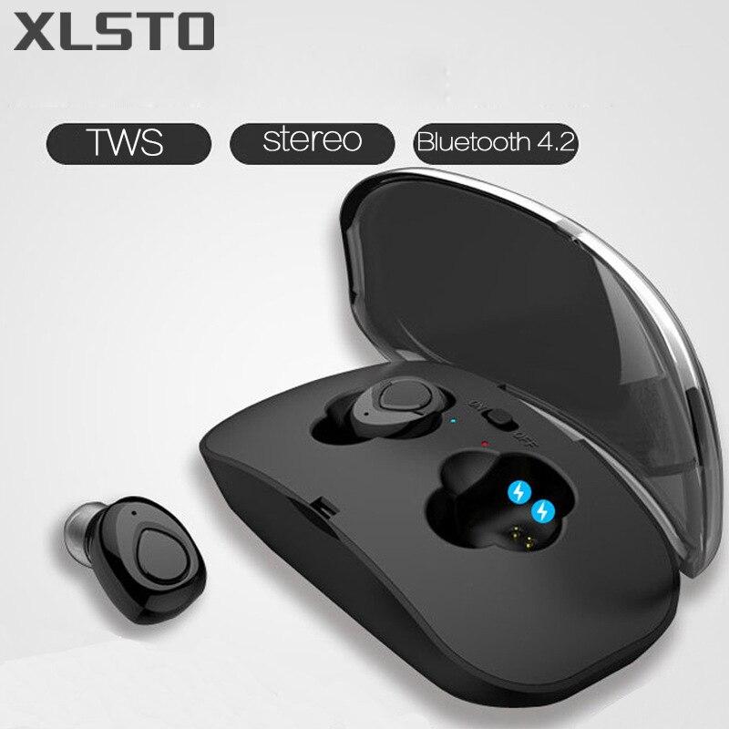 XLSTO Mini Twins Wireless casque Bluetooth TWS Earphone Bluetooth 4.2 Stereo Earphones with Charging Box Handsfree Style Headset
