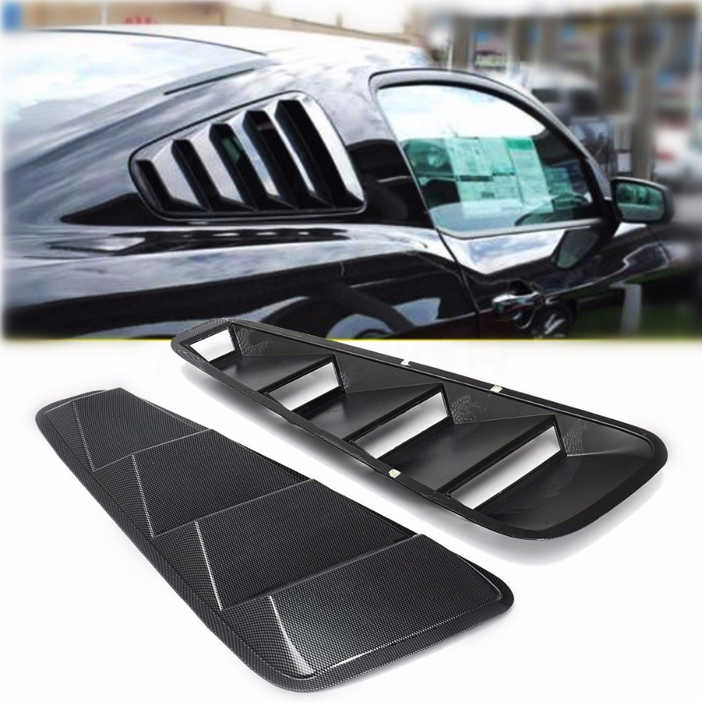 For Ford Mustang 1/4 Quarter Side Window Louvers Scoop Cover Vent 2005-2014 vr racing billet aluminum lower control arms fits for ford mustang 2005 2014 vr lca01s
