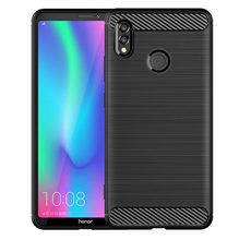 Shock Absorption Cover Soft TPU Anti Scratch Carbon Fiber Back Original Case for Huawei Honor Note 10 Cover Cases(China)
